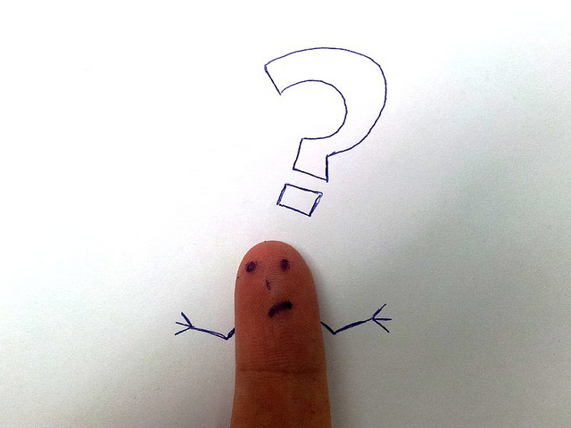 finger face with a question Tsahi Levent-Levi flickr
